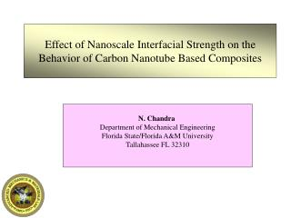 Effect of Nanoscale Interfacial Strength on the Behavior of Carbon Nanotube Based Composites