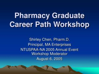 Pharmacy Graduate Career Path Workshop
