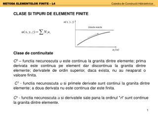 CLASE SI TIPURI DE ELEMENTE FINITE