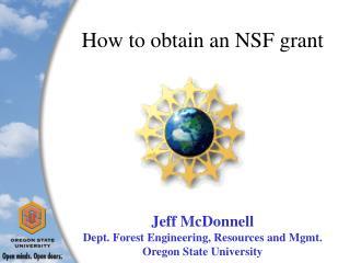 How to obtain an NSF grant