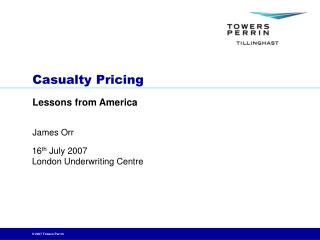 Casualty Pricing