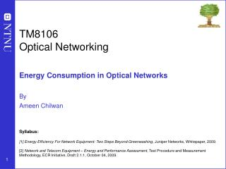 TM8106 Optical Networking