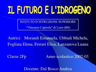 Autrici:   Morandi Emanuela, Ubbiali Michela,  Fogliata Elena, Ferrari Elisa, Lanzanova Luana