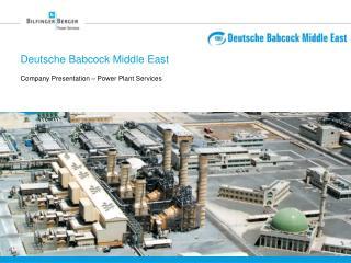Deutsche Babcock Middle East