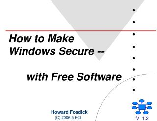 How to Make Windows Secure --  with Free Software