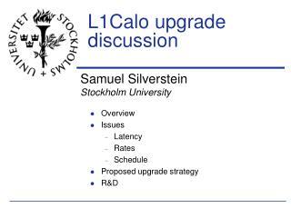 L1Calo upgrade discussion