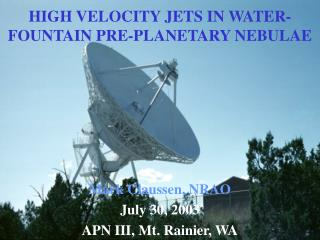 HIGH VELOCITY JETS IN WATER-FOUNTAIN PRE-PLANETARY NEBULAE