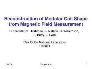 Reconstruction of Modular Coil Shape from Magnetic Field Measurement
