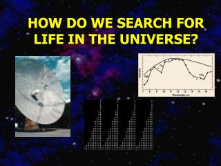 HOW DO WE SEARCH FOR LIFE IN THE UNIVERSE?