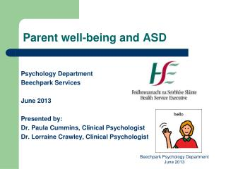 Parent well-being and ASD