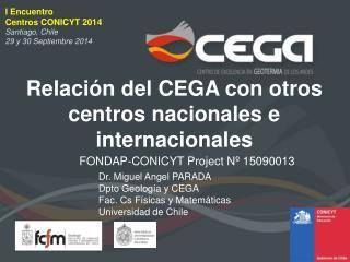 Relación del CEGA con otros centros nacionales e internacionales