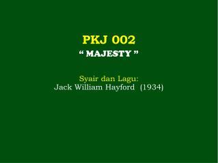 PKJ 002