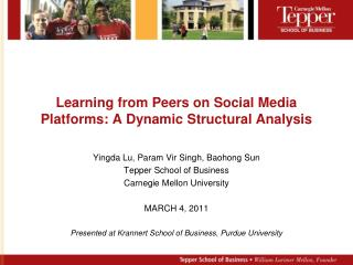 Learning from Peers on Social Media Platforms: A Dynamic Structural Analysis