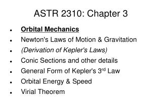 ASTR 2310: Chapter 3