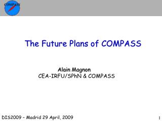The Future Plans of COMPASS