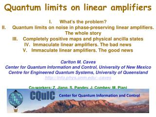 Quantum limits on linear amplifiers  What�s the problem?