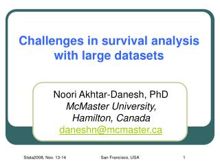 Challenges in survival analysis with large datasets