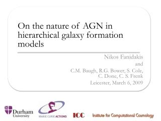 On the nature of AGN in hierarchical galaxy formation models
