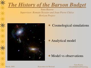 Cosmological simulations Analytical model Model vs observations