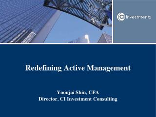Redefining Active Management