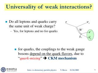Universality of weak interactions?