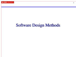 Software Design Methods
