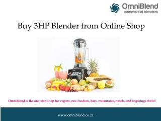Buy 3HP Blender from Online Shop