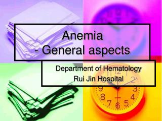 Anemia - General aspects