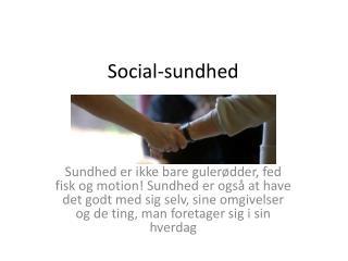 Social-sundhed