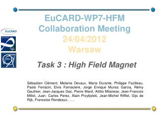 EuCARD-WP7-HFM  Collaboration  Meeting 24/04/2012 Warsaw
