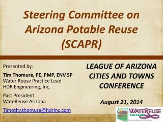 Steering Committee on Arizona Potable Reuse (SCAPR)