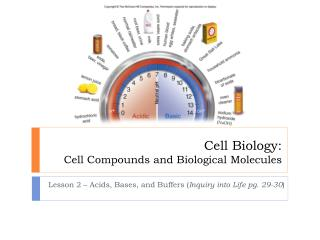 Cell Biology: Cell Compounds and Biological Molecules