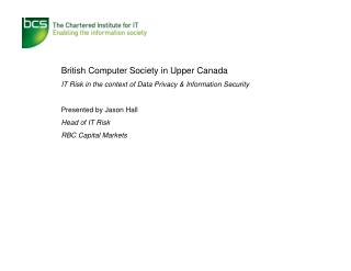 British Computer Society in Upper Canada