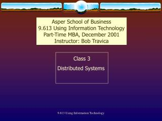 Class 3 Distributed Systems