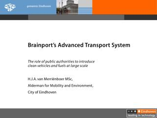 Brainport's Advanced Transport System