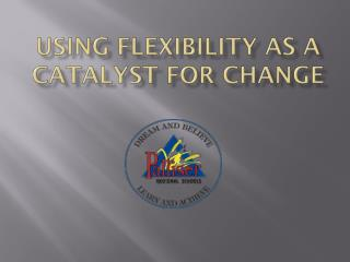 Using Flexibility as a Catalyst for Change