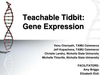 Teachable Tidbit:   Gene Expression