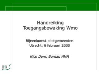 Handreiking  Toegangsbewaking Wmo