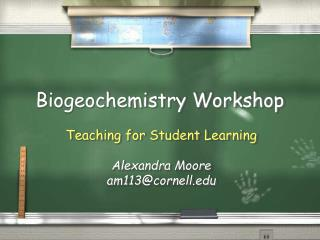 Biogeochemistry Workshop