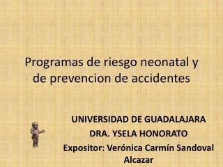 Programas  de  riesgo  neonatal y de  prevencion  de  accidentes