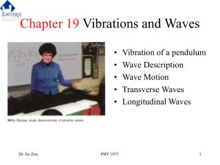 Chapter 19 Vibrations and Waves