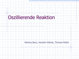 Oszillierende Reaktion