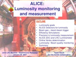 ALICE:  Luminosity monitoring  and measurement