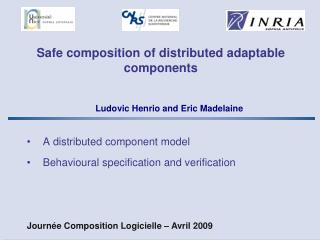 Safe composition of distributed adaptable components