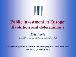 Public investment in Europe: Evolution and determinants