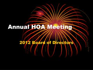 Annual HOA Meeting