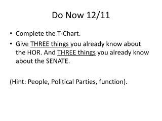 Do Now 12/11