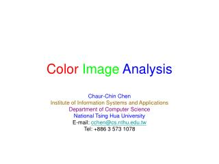 Color Image Analysis