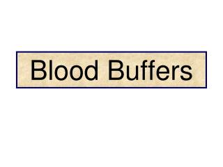 Blood Buffers