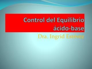 Control del Equilibrio ácido-base